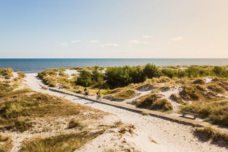 Sandhammeren Strand is een top fietsbestemming